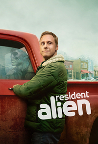 "Based on the Dark Horse comic, SYFY's ""Resident Alien"" follows Harry, an alien played by Alan Tudyk (""Rogue One,"" ""Firefly"") that crash lands on Earth and passes himself off as a small-town human doctor. Arriving with a secret mission, Harry starts off living a simple life…but things get a bit rocky when he's roped into solving a local murder and realizes he needs to assimilate into his new world. As he does so, he begins to wrestle with the moral dilemma of his mission and asking the big life questions like: ""Are human beings worth saving?"" and ""Why do they fold their pizza before eating it?"""